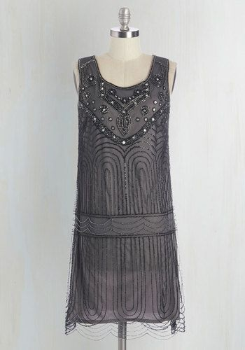 1920s party dress. Philharmonic of Time Dress in Smoke $169.99 AT vintagedancer.com