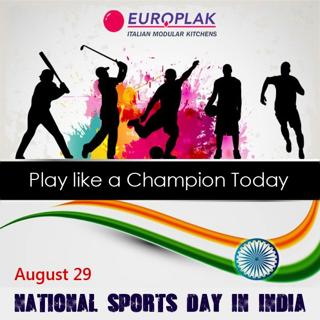 National Sports Day in India is celebrated on August 29.  We congratulate all sports lovers across India.  Europlak India Wishing you all a very Happy National Sports Day   #EuroplakIndia #NationalSportsDay