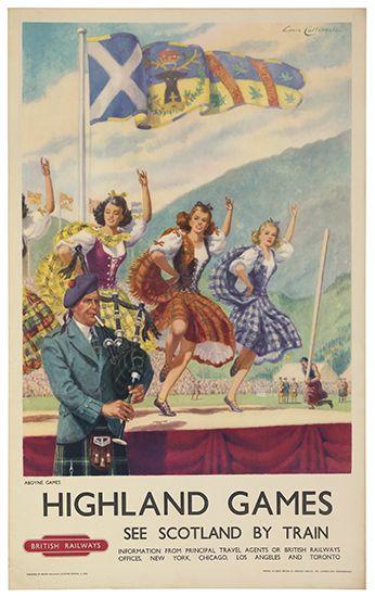 Highlands games - British Railways - 1955 - (Lance Cattermole)