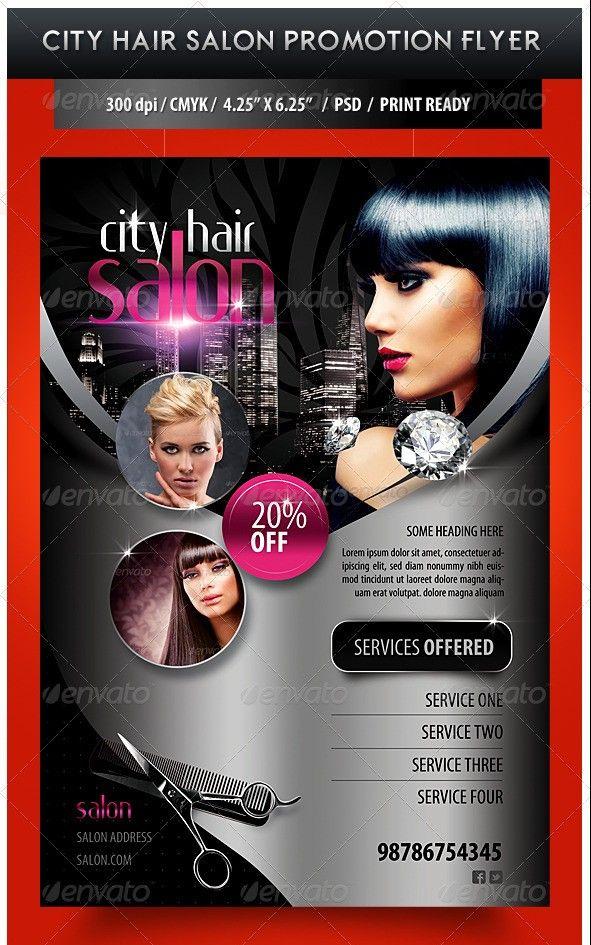 95 Free Flyer Templates Photoshop Psd Download Salon Promotions Hair Salon Flyer