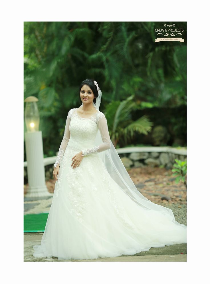 Kerala Christian Bride Super Gorgeous Wedding Gown