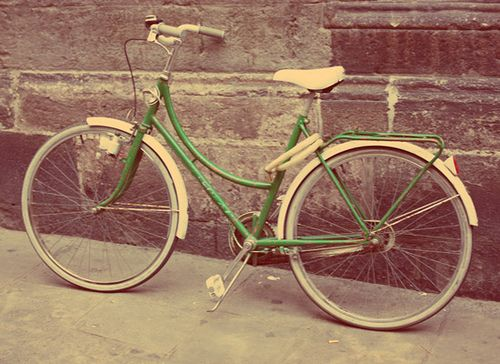 Vintage bicycles are wonderful.  Easy to find on craigslist or Etsy.
