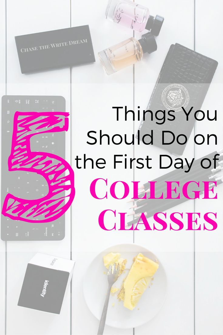 5 Things You Should Do on the First Day of College Classes - Newly graduated high school students and those returning to college soon, listen up! These 5 tips will help pave the way for a strong semester (I'm talking making better grades, building connections, and so much more). I'm sure at least one of these tips you've never heard before, so don't miss out! college student tips #college #student