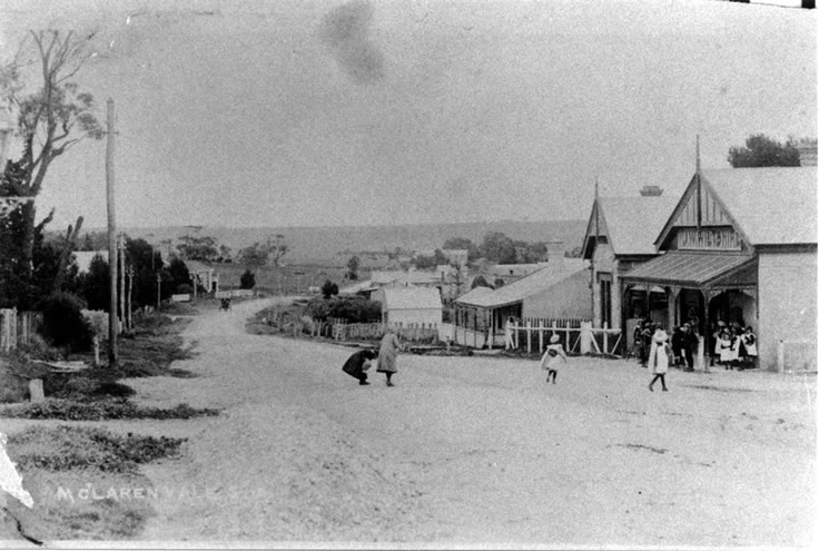 Main Street, McLaren Vale, S. Aust., 1910 - looking south west from Aldersey/Field St.