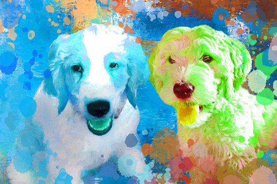 Pet paintings Pet portrait Custom pet portrait Custom dog