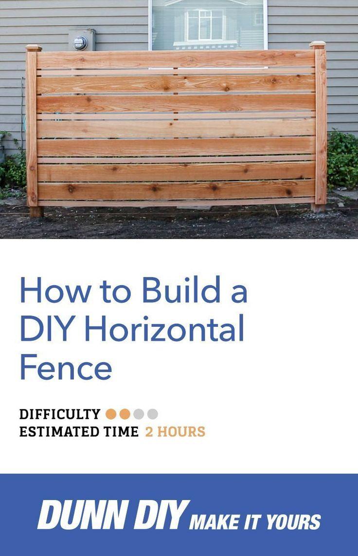 How to Build a DIY Horizontal Fence, Build DIY Fence