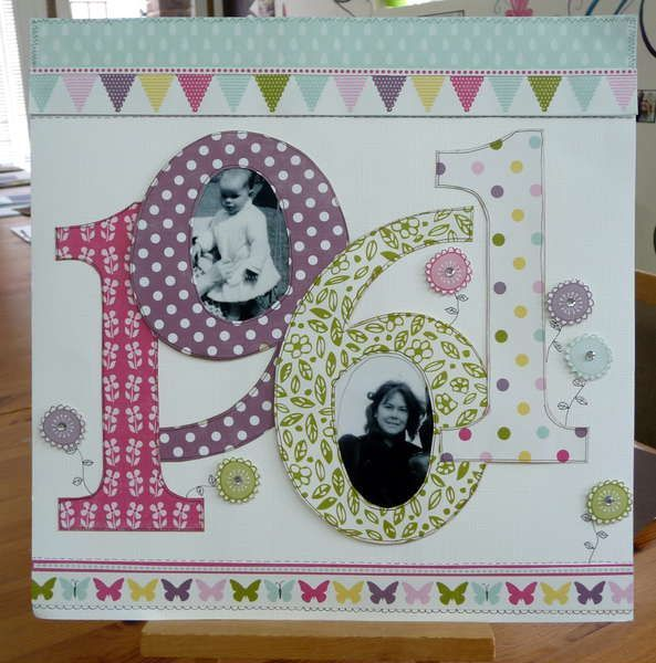 Like this idea for anything with a special year. Anniversaries, Births, Special Birthday, New Year #scrapbookideas