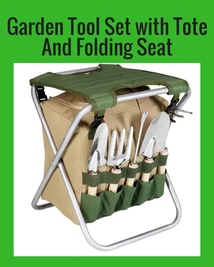 1e2a17921125030ded12785ef77bdce5 - Picnic Time Gardener Folding Chair With Tools