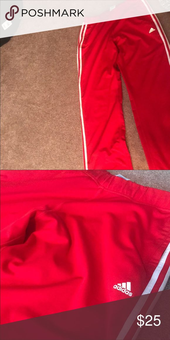 Red Adidas pants Perfect condition red adidas pants size medium , I purchased them to big runs big adidas Pants