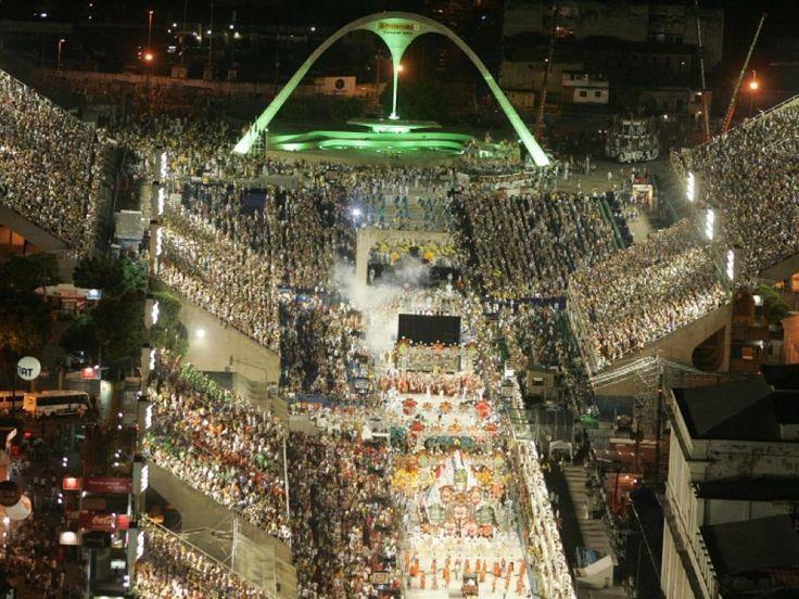 Sambódromo da Marquês de Sapucaí em Rio de Janeiro, RJ