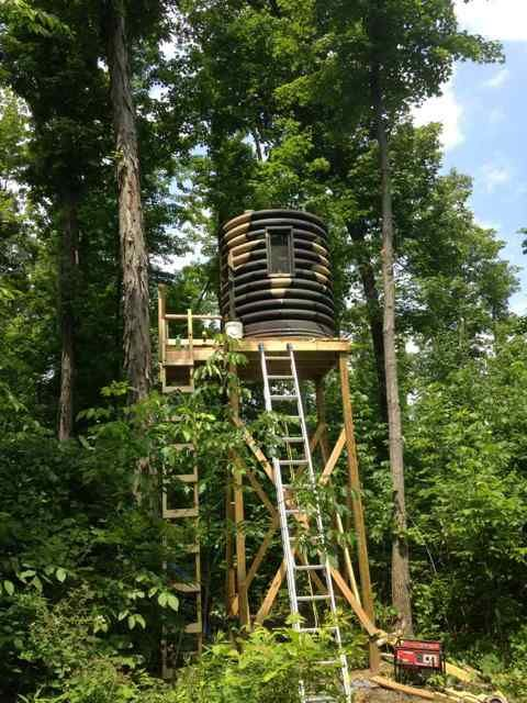 33 best images about hunting on pinterest deer blind for Permanent tree stand