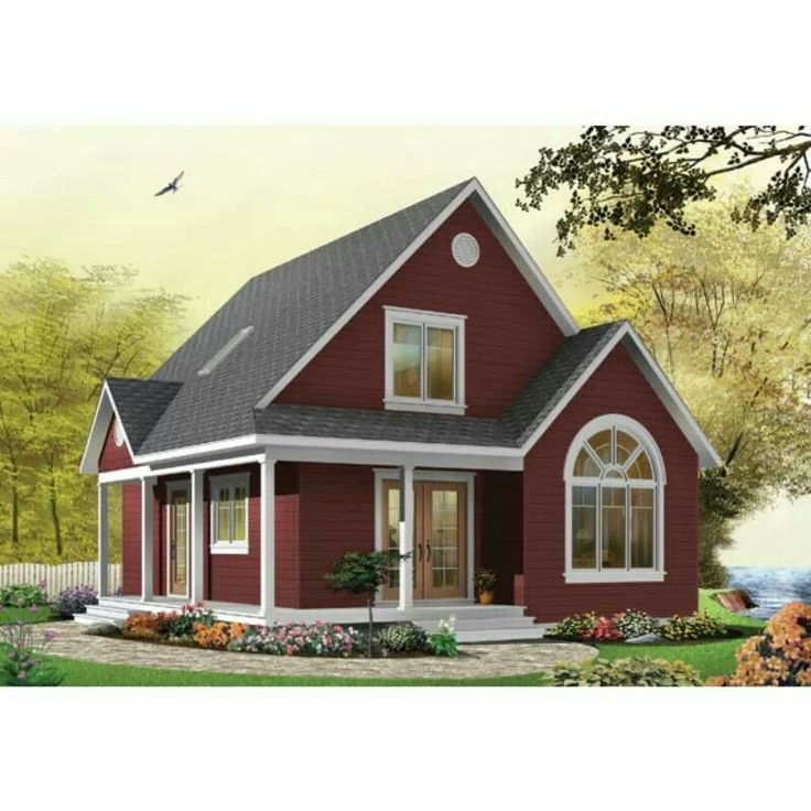 Best Red Houses Images On Pinterest Red Houses Small Houses - Pictures of small country homes