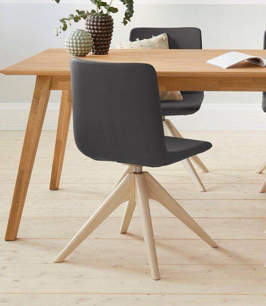 Stuhl »Helen« mit Beinen aus massiver Esche und Drehfunktion