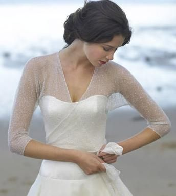 Perfect for wedding morning on a strapless dress - ballet wrap gives perfect fit!