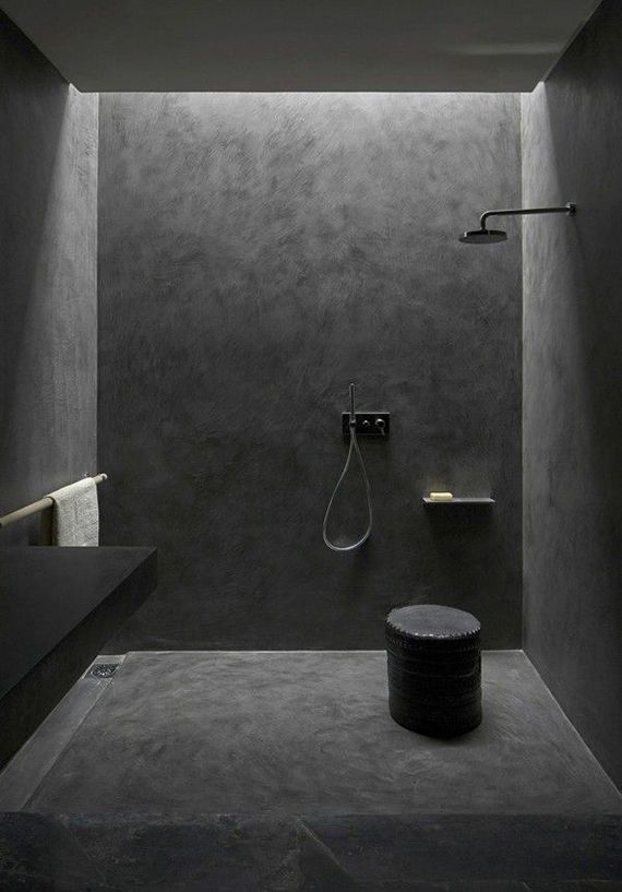 2 alike all black bathrooms - Bathroom Ideas Black