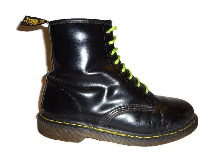 Vintage Dr. Marten Boots - Size 11 UK Men's - Size 11.5 US Men's - Doc Martens - Dr Martens - Grunge - Made in England - 8 hole Docs - by BLACKMAGIKA on Etsy