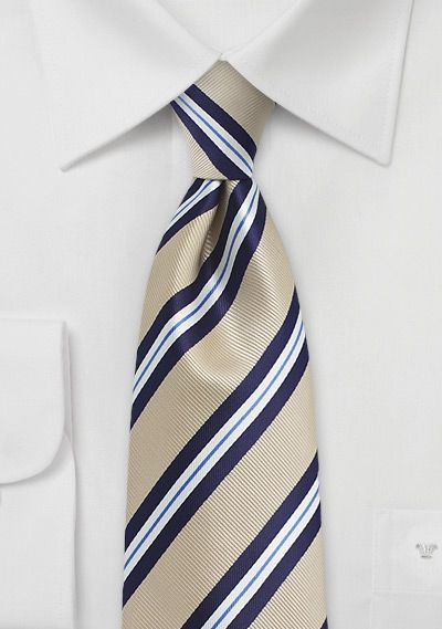 Mens Necktie in Beige and Blue | $5 at Cheap-Neckties.com