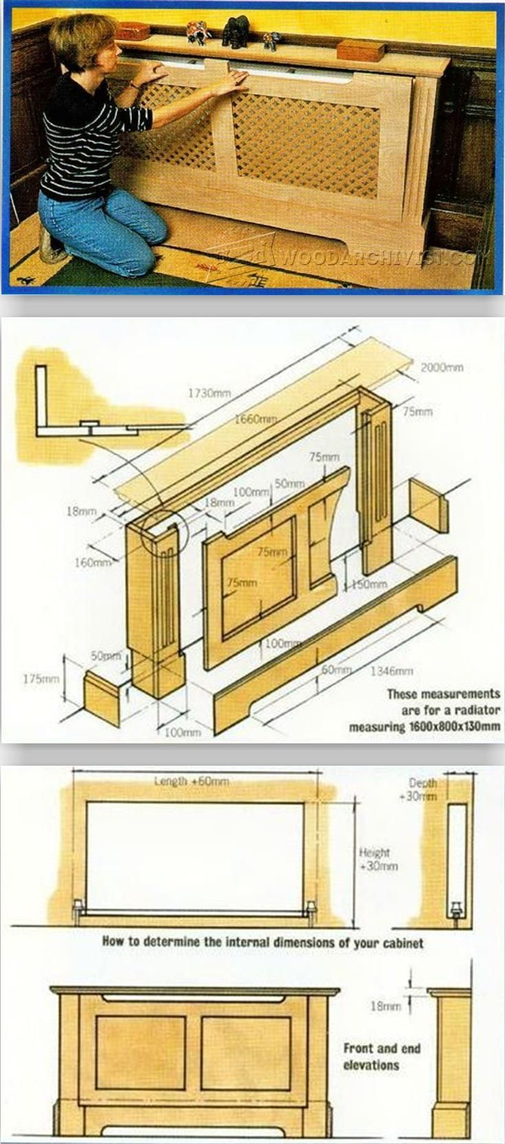 Radiator Cover Plans - Woodworking Plans and Projects    WoodArchivist.com