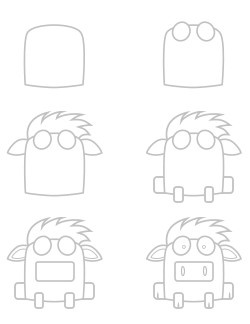 how to draw a cartoon donkey