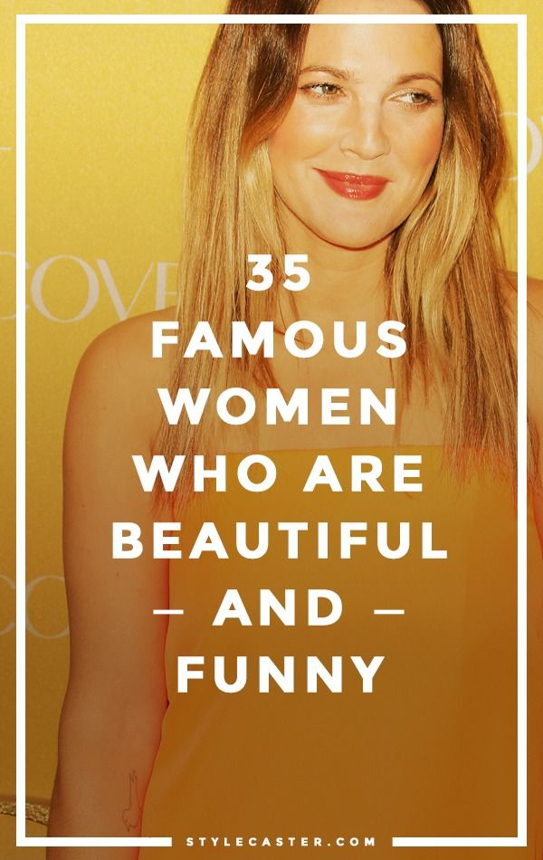 """Beautiful women aren't funny,"" says former Disney CEO Michael Eisner. Um, Sorry Eisner, have you heard of Tina Fey? Sofia Vergara? Rose Byrne? // 35 beautiful AND wildly funny women in entertainment. StyleCaster.com"