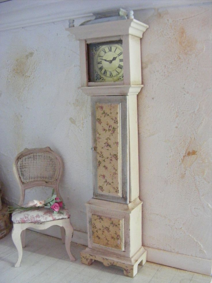 1000 images about little time clocks on pinterest dollhouse miniatures hand painted and. Black Bedroom Furniture Sets. Home Design Ideas