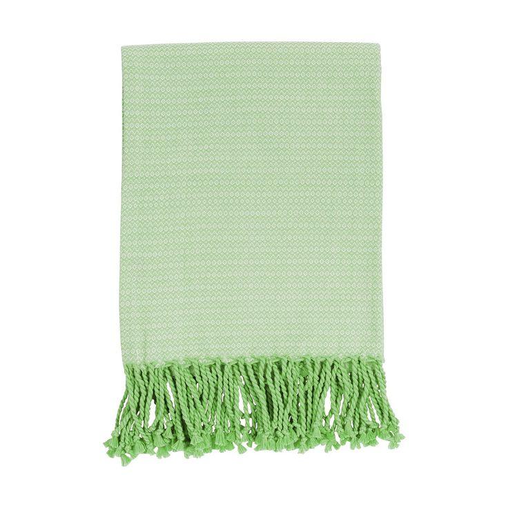 "Indoor Tagesdecke ""Summer Wave grün"" 130cm x 170cm Plaid Decke"