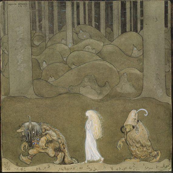 北欧メルヘン。スウェーデンの画家ヨン・バウエルの描くお伽話をテーマにした絵画