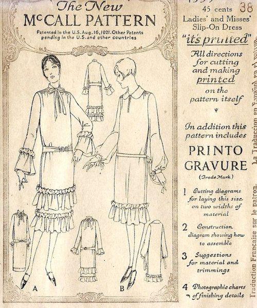 1920s flapper dress pattern