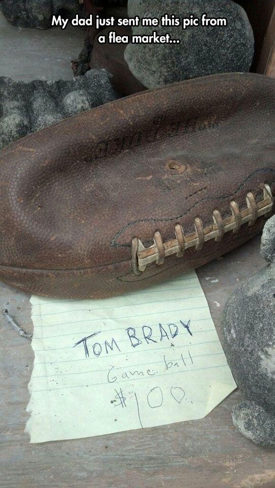 Tom Brady's Memorabilia Deflated football!