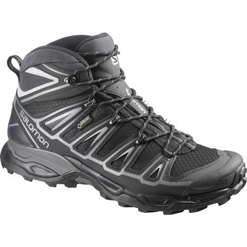 Salomon Men's X Ultra Mid 2 Spikes GTX Hiking Shoes (Black/Silver, Size 8.5) - Men's Outdoor Shoes at Academy Sports