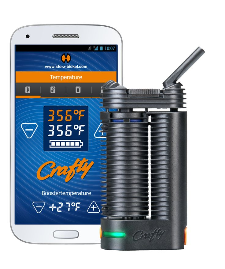 You can control the vape using the app. Control temperature of heating chamber, or change the brightness!
