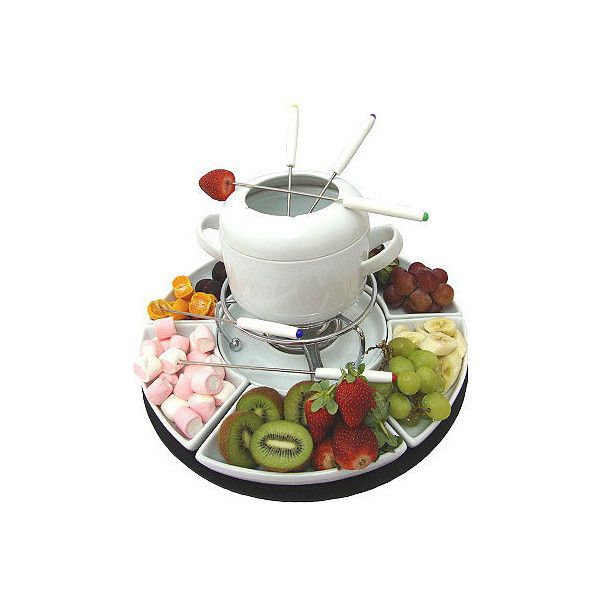 Send Chocolate Fondue Set to Dubai by Flowers Dubai and Gifts ❤ liked on Polyvore featuring food, fillers, food and drink, kitchen and sweets