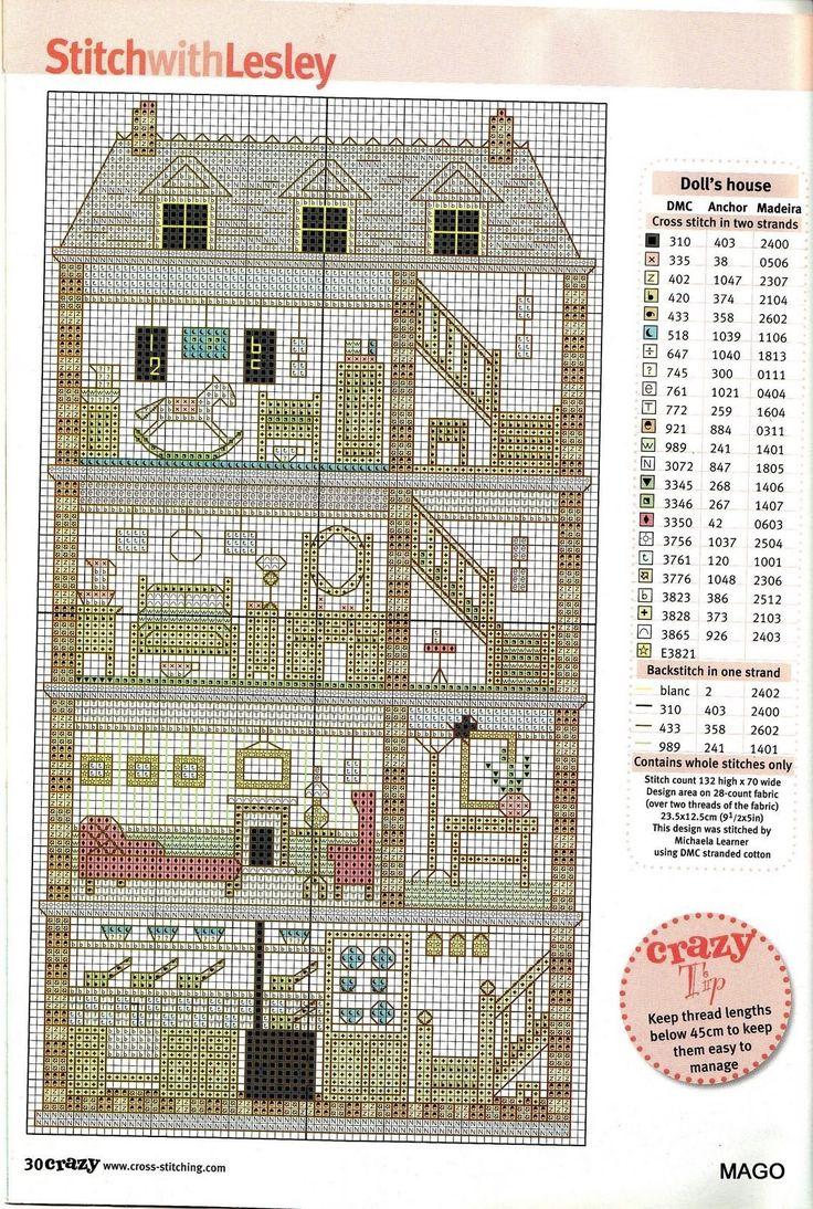 Tall dollhouse chart & key