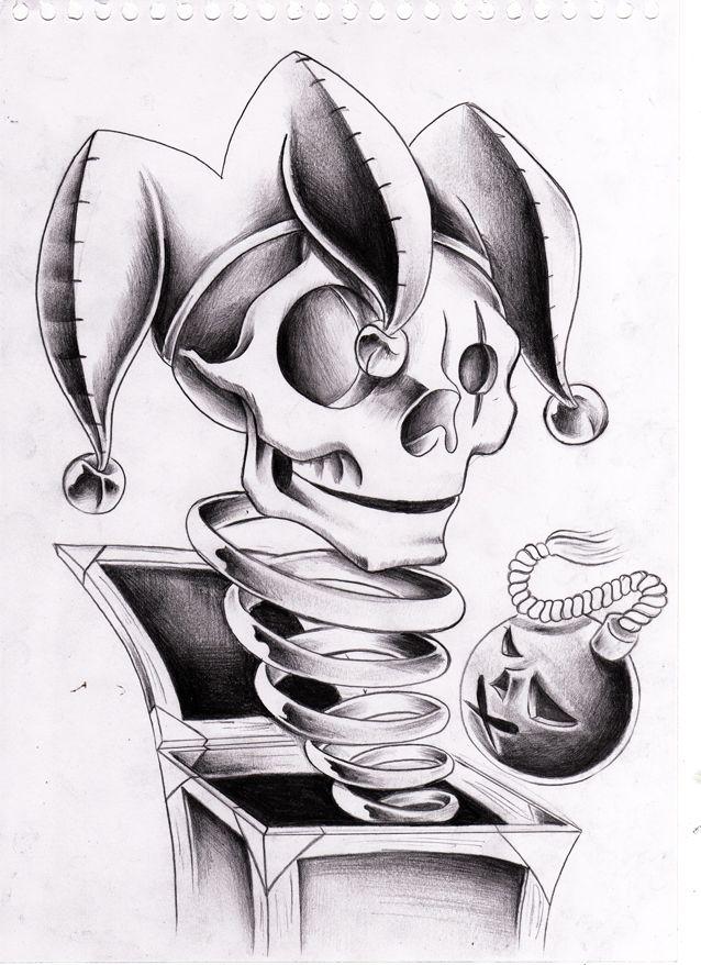 Jack  in the box - Skulljester by WillemXSM.deviantart.com on @deviantART