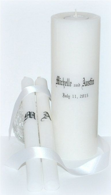 Wedding ceremony sets Wedding Candle by DesignsbyDMCandles on Etsy