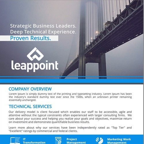Best Capabilities Statement Images On   Page Layout