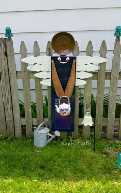 "An garden angel to watch over me... ""I am so excited about my Shutter Angel!"" Jeanne Sammons says.  ""She'll be out on the path to my 'Secret Garden in the Pin"
