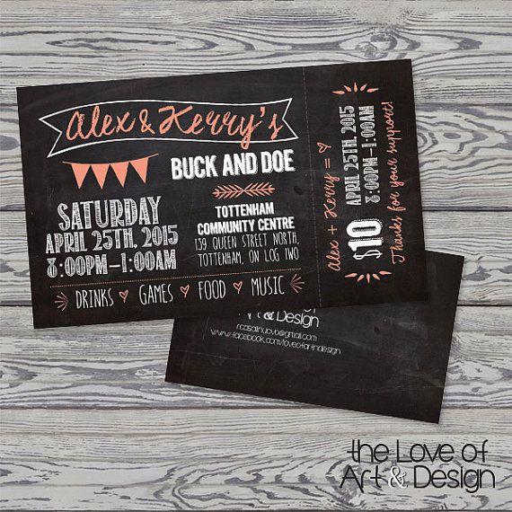 Chalkboard buck and doe ticket #buckanddoe #staganddoe #numberedticket