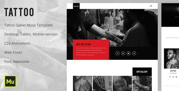 Download Free              Tattoo - Tattoo Salon Muse Template            #               art #artist #artists #body art #creative #dark #fine art #gallery #ink #inked #photography #piercing #portfolio #studio #tattoo