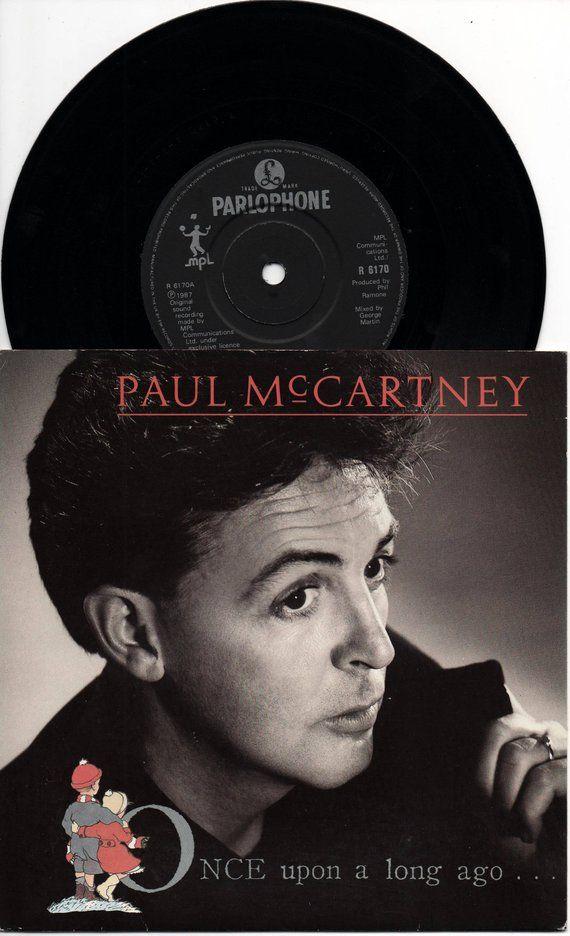Paul Mccartney Once Upon A Long Ago 1987 Uk 1st Issue Original 7 45 Vinyl Single Record Music Pop Rock 80s Wings Beatles R 6170 Canudinho