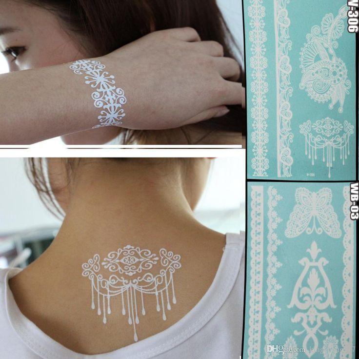 estate della collana di disegno del braccialetto di body art armband temporanei adesivi tatuaggi bianche sexy non