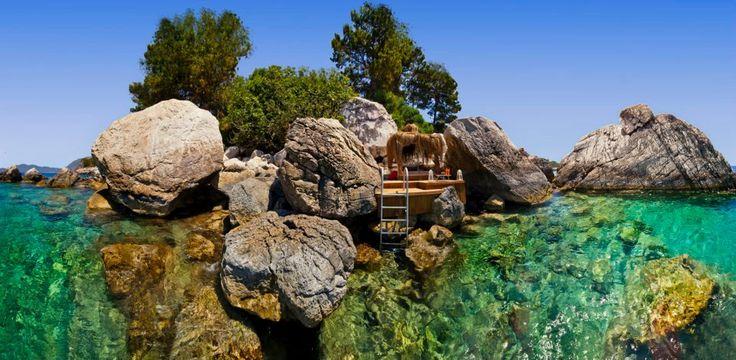 #Faralya is a hidden gem of #Turkey's turquoise coast