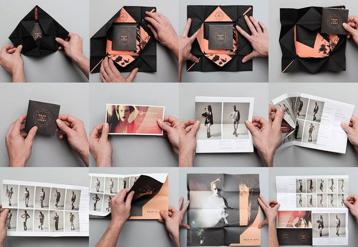 Creative Look Book Poster // Draw In Lightby We are Useful