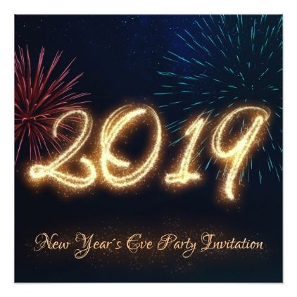Sparkling New Year 2019 Fireworks Party Invitation New Year S Eve
