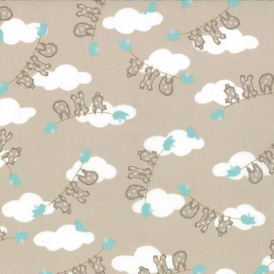 Story Book - Clothesline in Stone (13113 14) // Juberry Fabrics