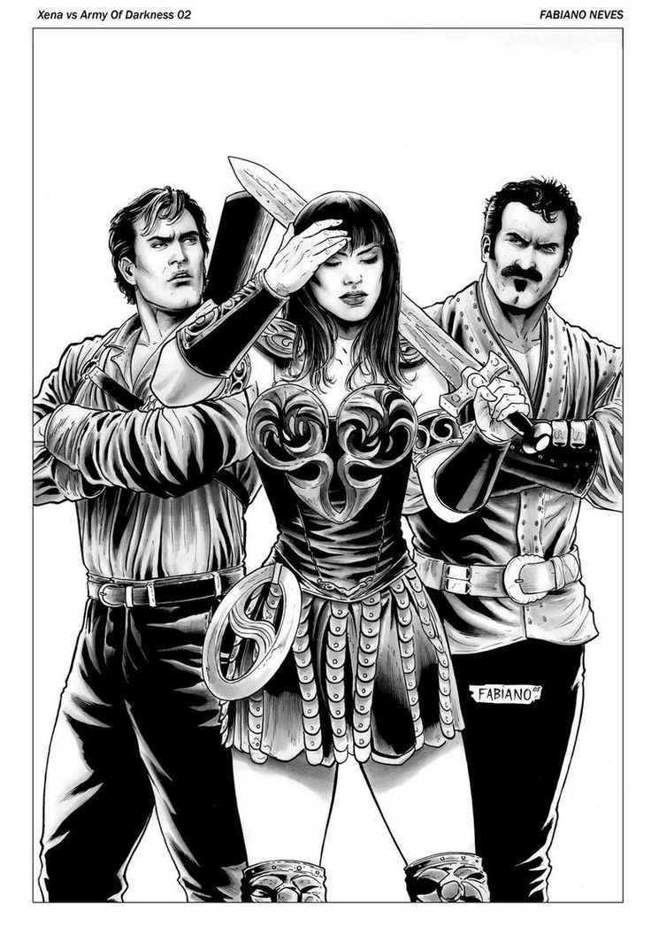 17 best images about illustrated ladies on pinterest Xena coloring book