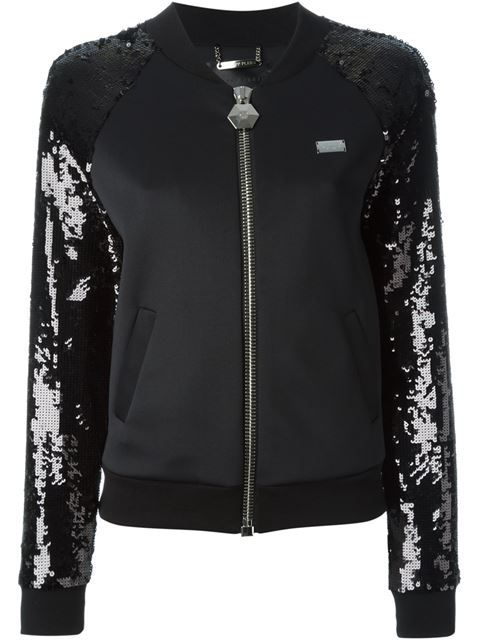 PHILIPP PLEIN  - sequinned sleeve track jacket
