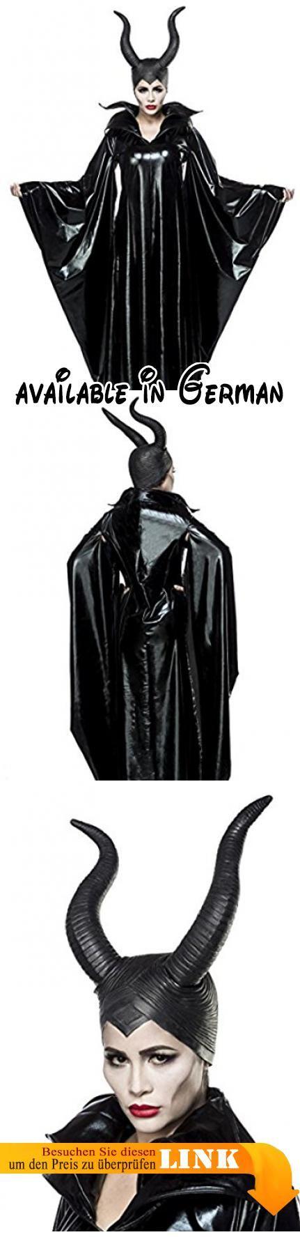 Sexy 2 teiliges Maleficent Lady Kostüm mit Maske Damenkostüm Malefiz Märchen Fee Böse Karneval Fasching Set Komplettset Wetlook. Cape: 94% Polyester, 6%Elasthan, Hörnermaske: Gummi #Apparel #ADULT_COSTUME