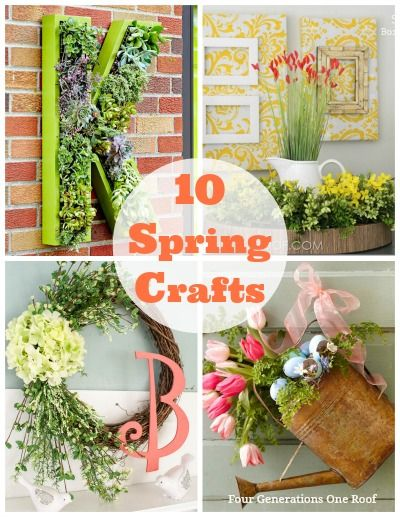 10 Spring Crafts {Succulents, Tulips, Hydrangeas & More} by Four Generations One Roof #BringInSpring