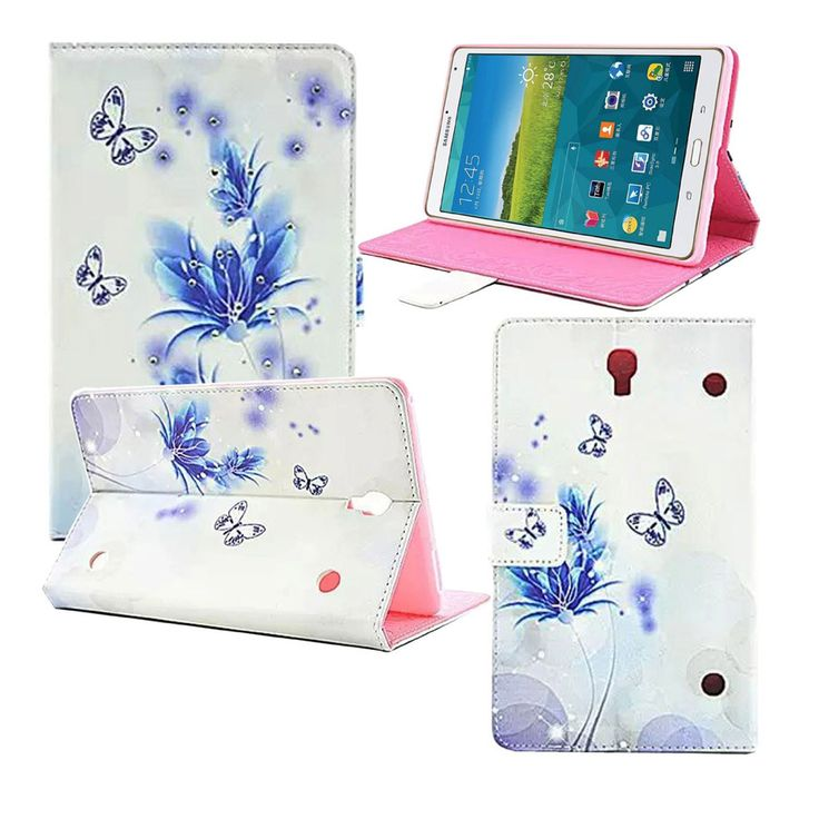 For Samsung Galaxy Tab S 8.4 Inch SM-T700 Case Folio Orchid PU Leather Stand Cover Cases for Samsung Tab S 8.4 T700 Coque #Affiliate